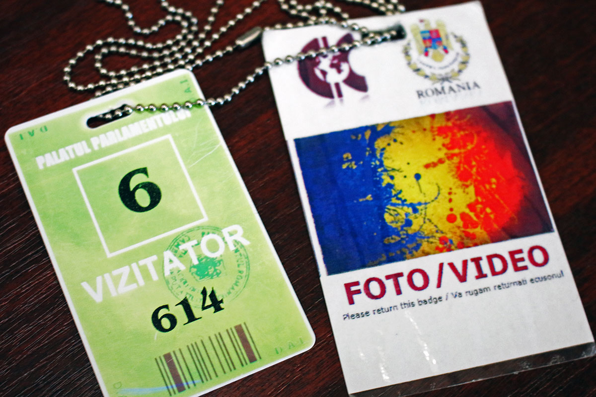 Visitors Pass for the Palace of Parliament