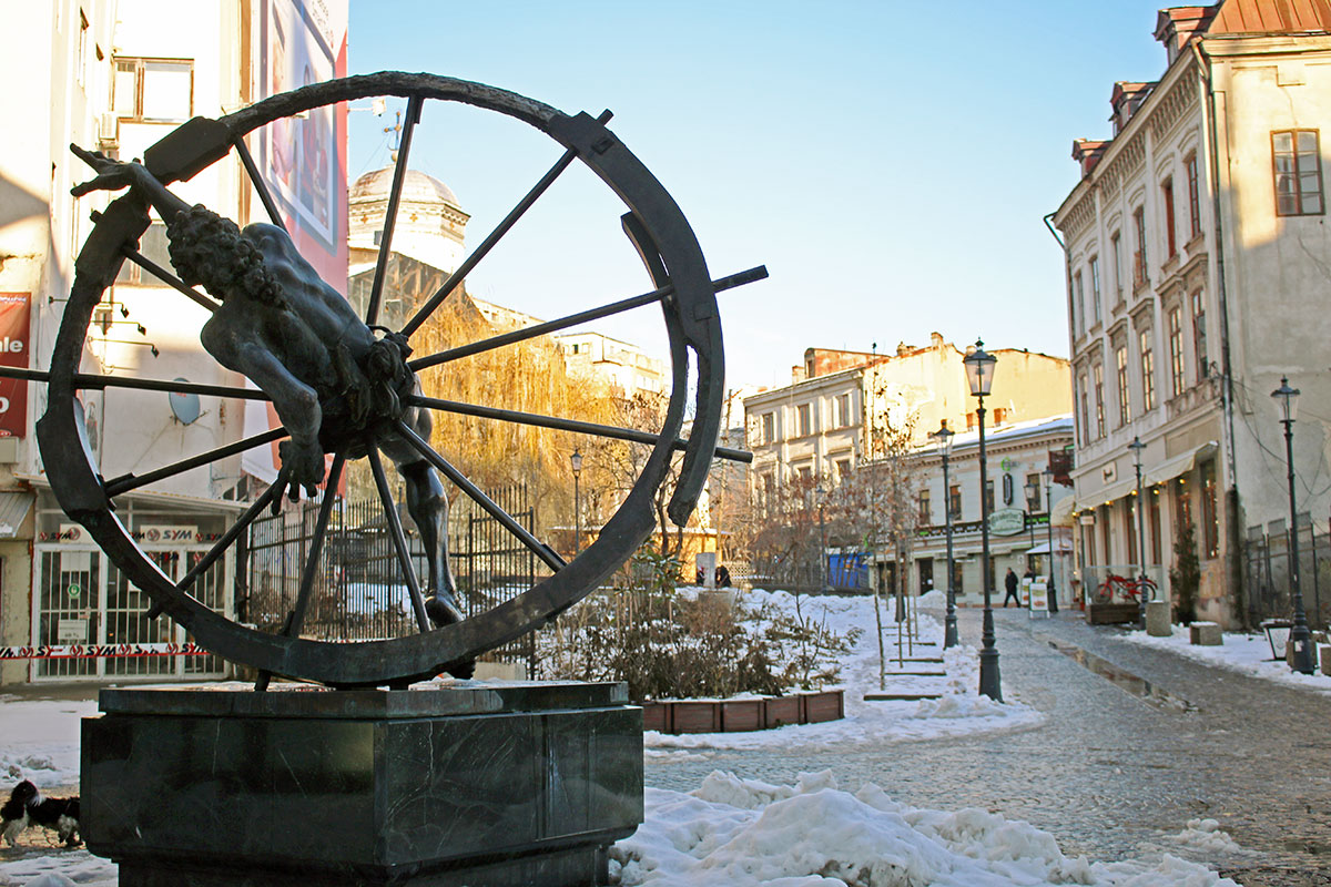 Bucharest's Old Town in Winter