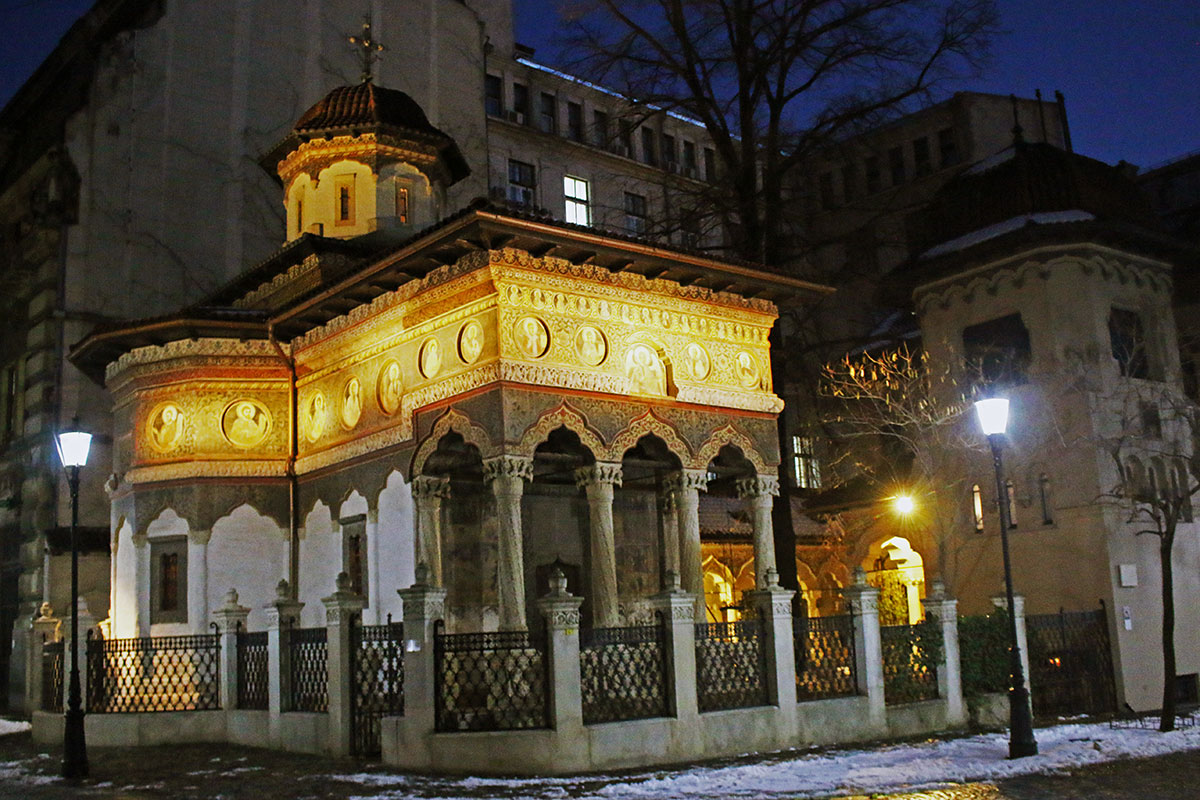 things to do in Bucharest in winter, Stavropoleos Romanian Orthodox Church