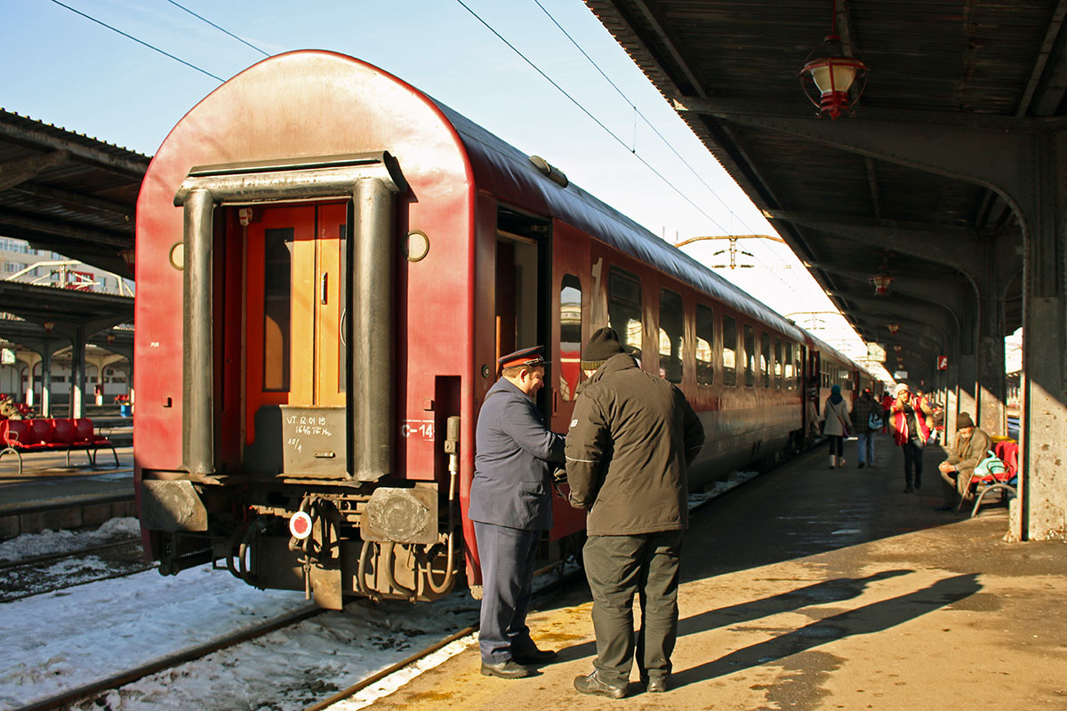 Taking the train from Bucharest to Sofia | Getting ready to board the train at Bucharest Nord Station