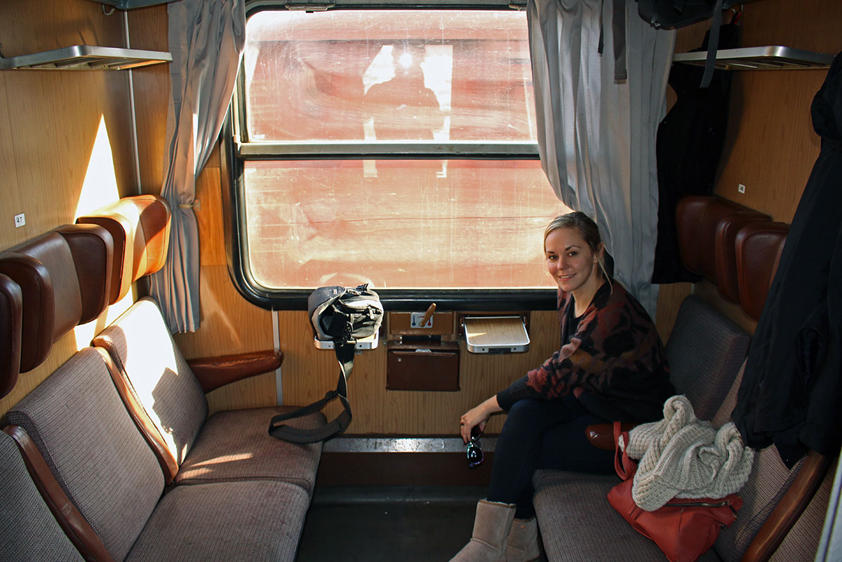 Taking the train from Bucharest to Sofia | The roomy cabins on board
