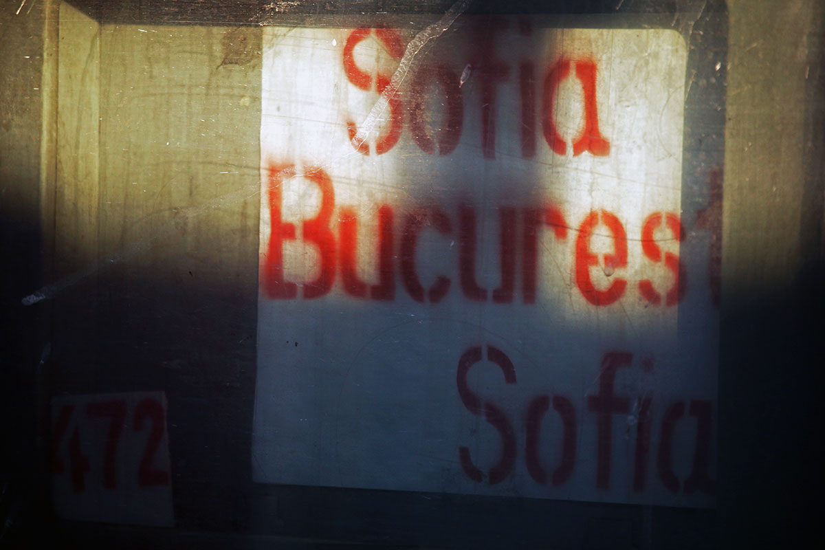 Taking the train from Bucharest to Sofia | Old school signage on the train from Bucharest to Sofia