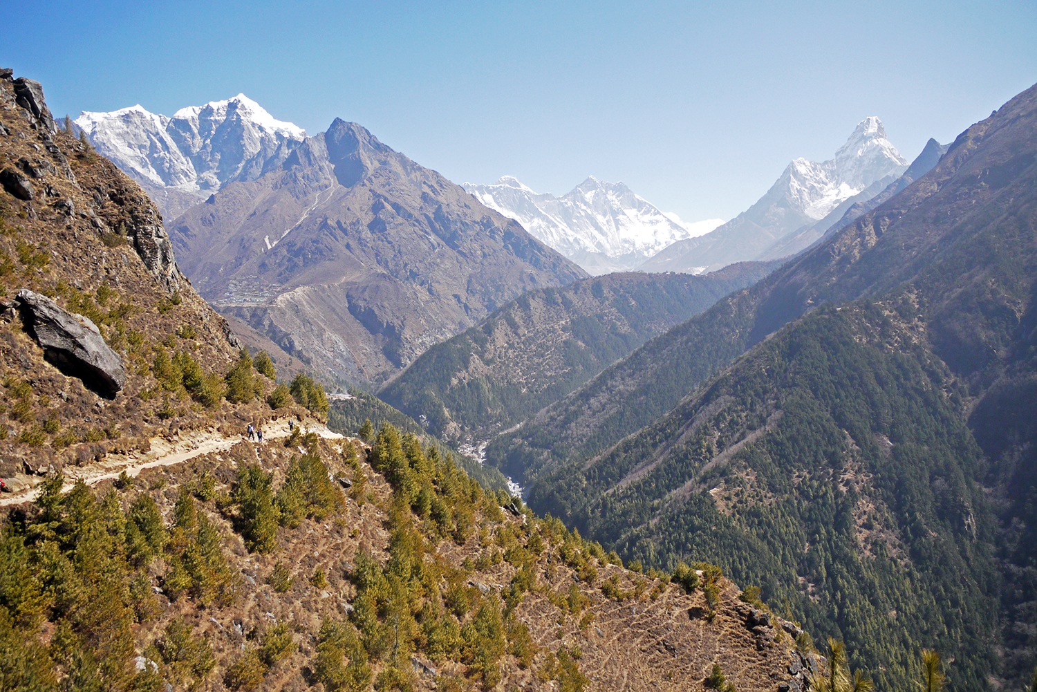 The path out of Namche Bazzar