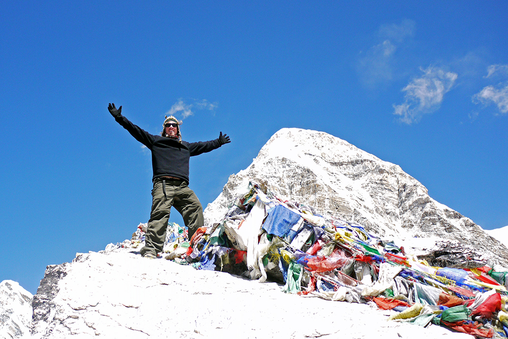 Brian on top of Kala Pattar at 5,550m