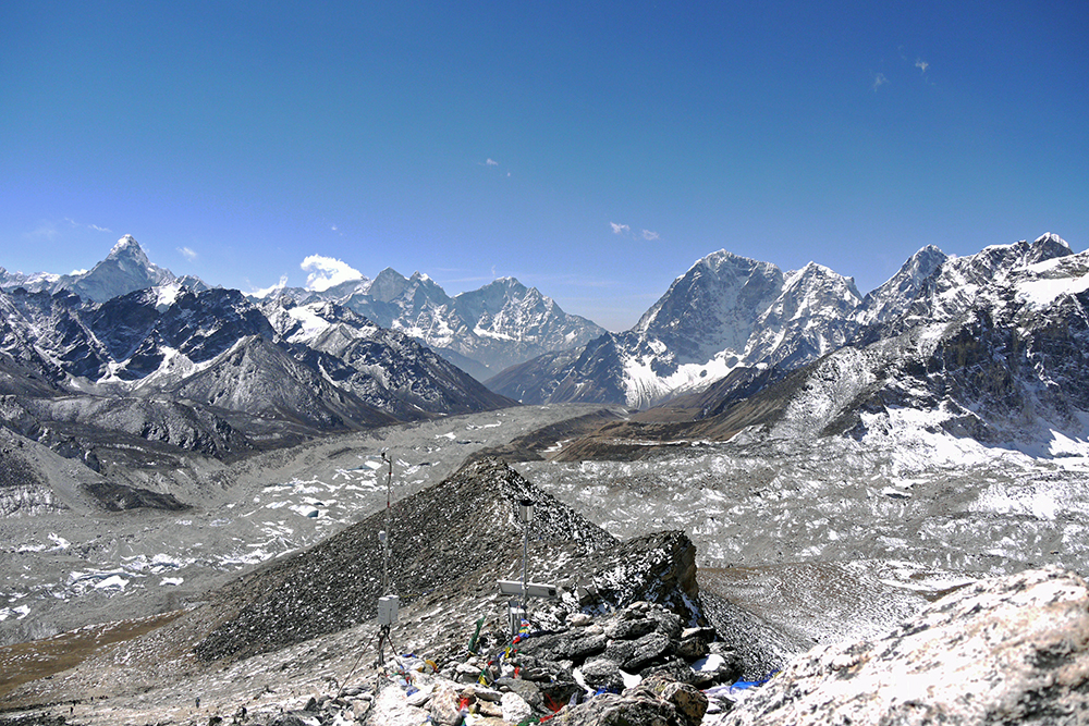 Stunning views of the Everest range