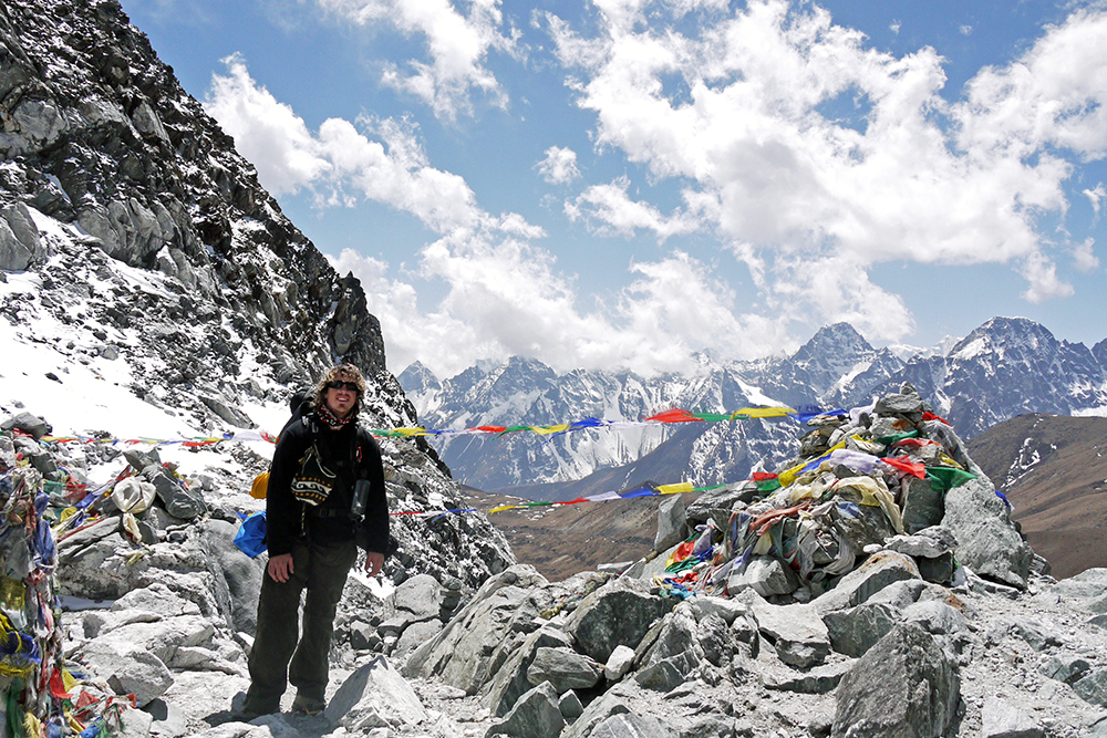 Prayer flags and amazing views