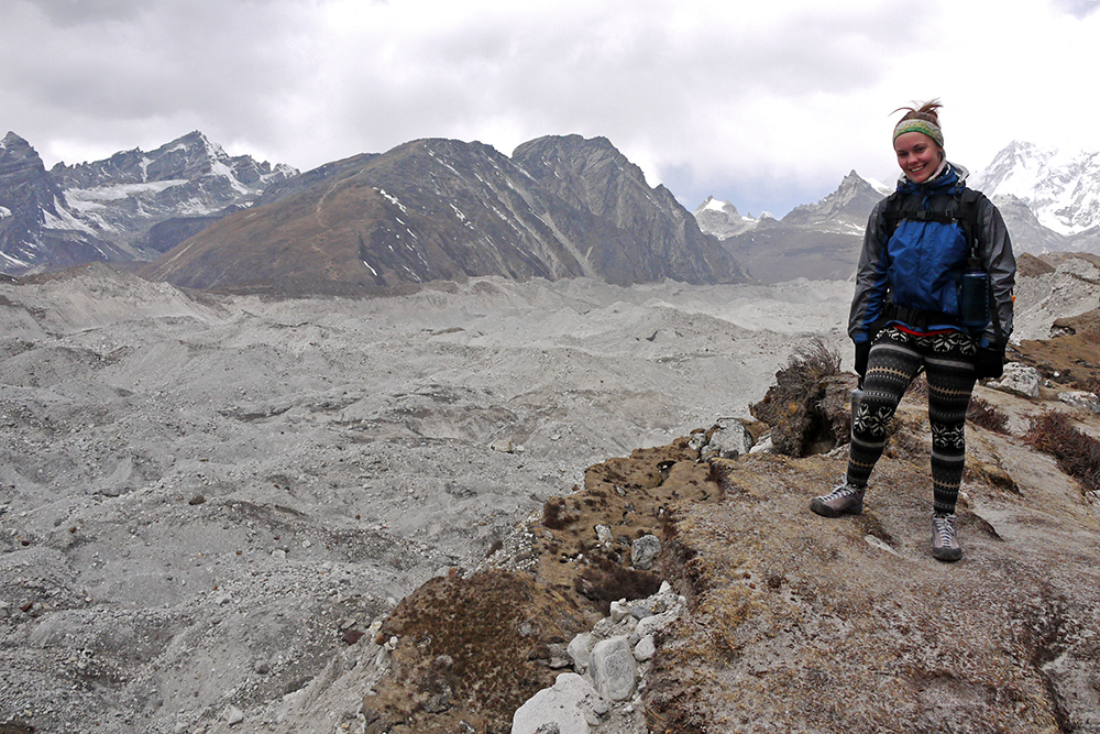 Trekking to Everest Base Camp without a guide, Ngozamba Glacier, the largest in the Himalayas