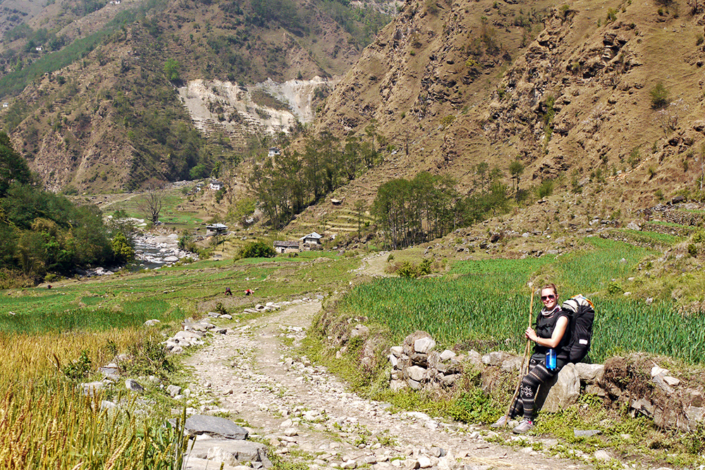 The much greener Lukla to Jiri section