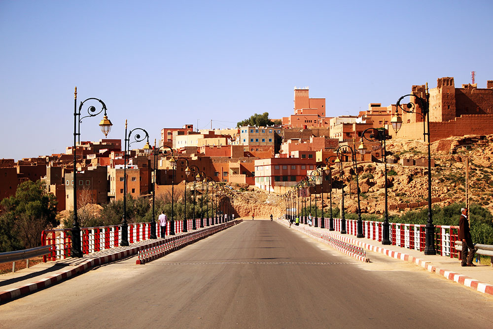 Passing through a Berber City in rural Morocco