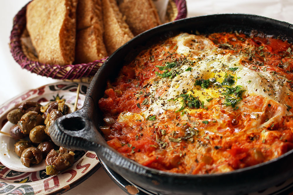 Berber Eggs - one of our favourite dishes in Morocco.