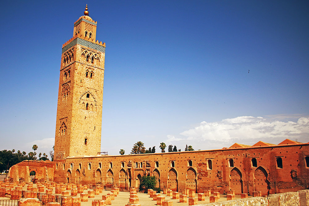 The stunning Koutoubia Mosque in Marrakesh.