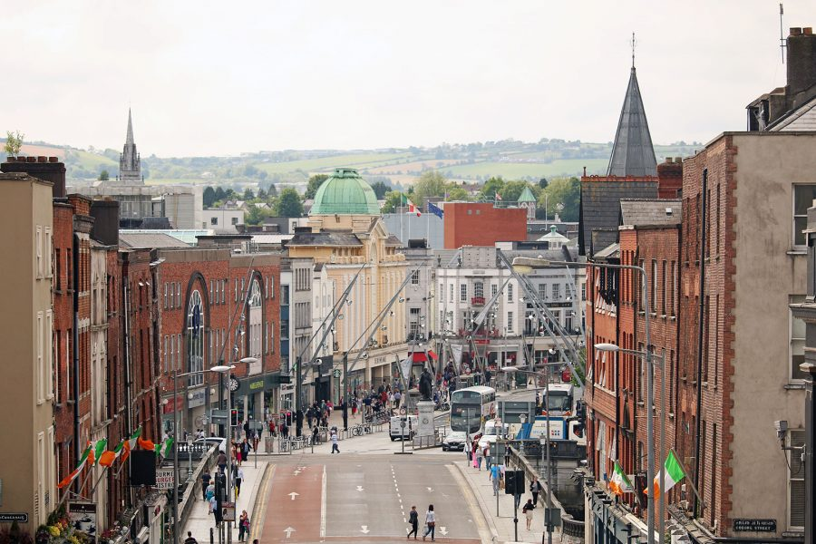 View down Patrick's Street from Patrick's Hill