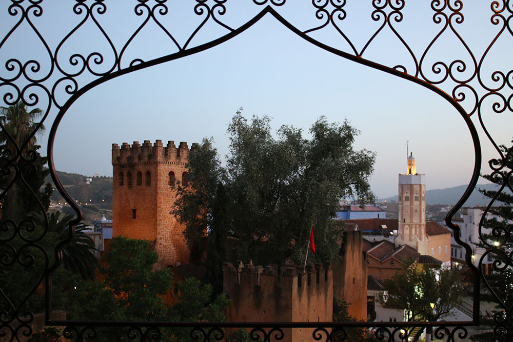 Dusk settling in arounf the Kasbah in northern Morocco.