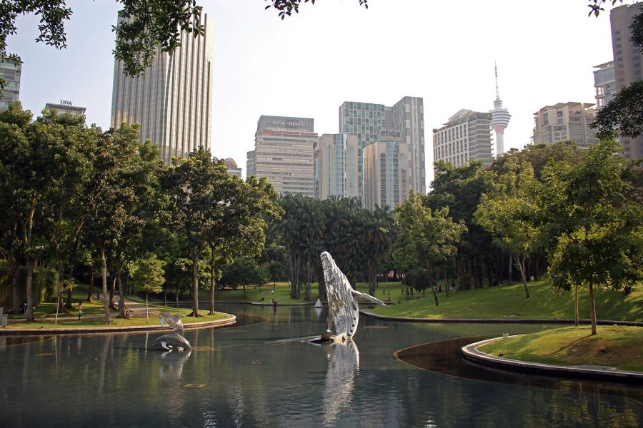 KLCC Park at the base of the Petronas Towers