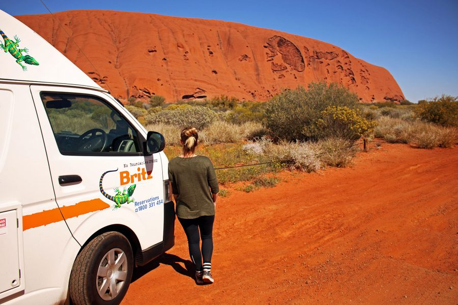 Viewing Uluru from the ground