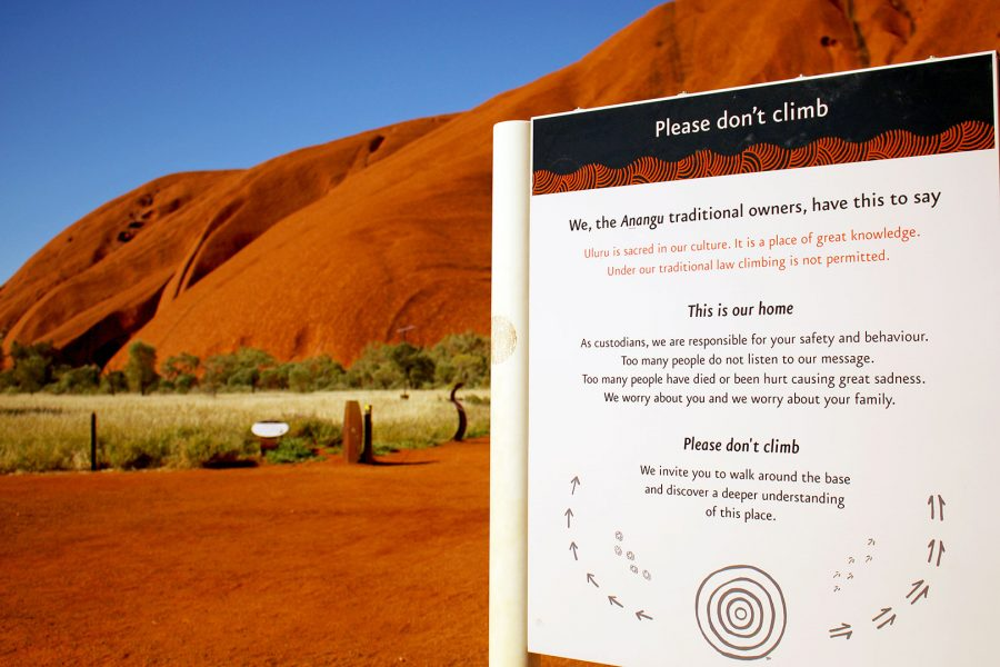 Pleads from the local Anangu people for you NOT to climb Uluru