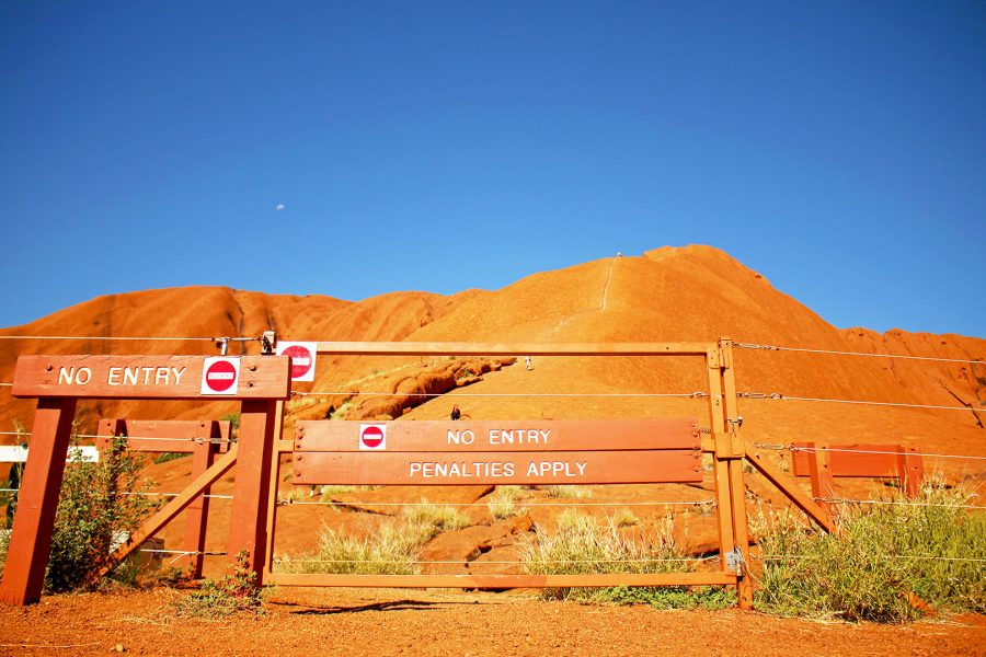 Maybe one day the gates allowing access to climb Ayers Rock will remain closed