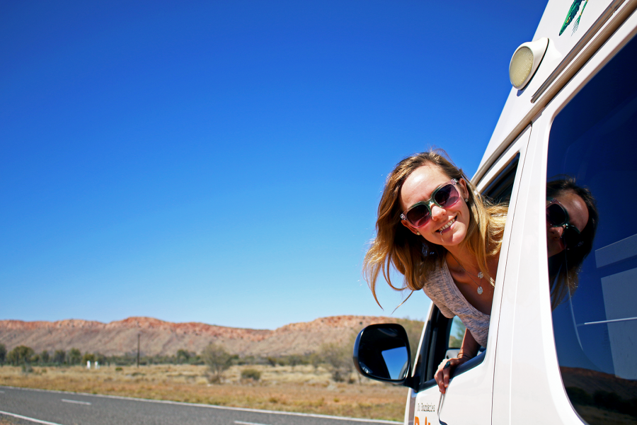 Road tripping through the MacDonnell Ranges