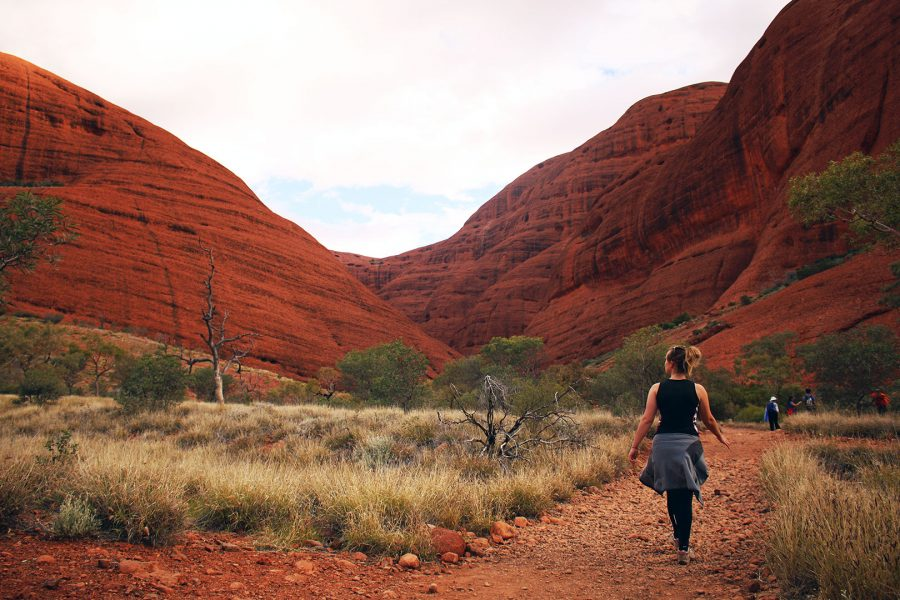 Walking amongst the beauty of Kata-Tjuta on the Valley of the Winds walk | driving from Alice Springs to Adelaide