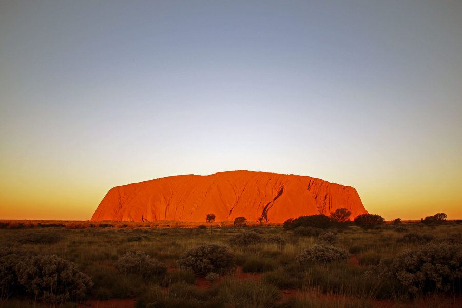 Stunning sunset at Uluru