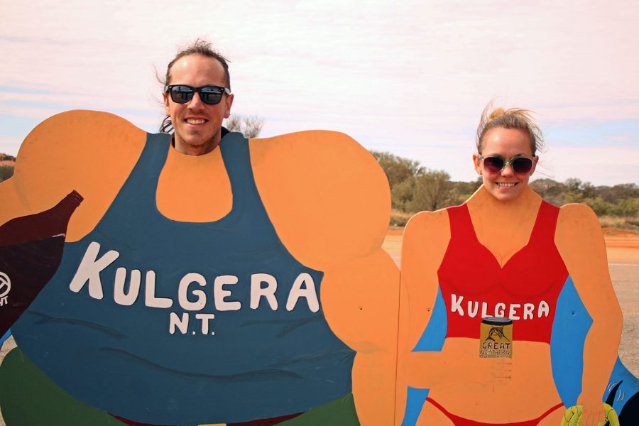 Cheesy photo opp at Kulgera