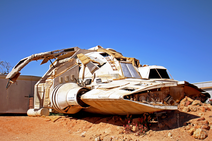Spaceship in Coober Pedy from cult film 'Pitch Black'