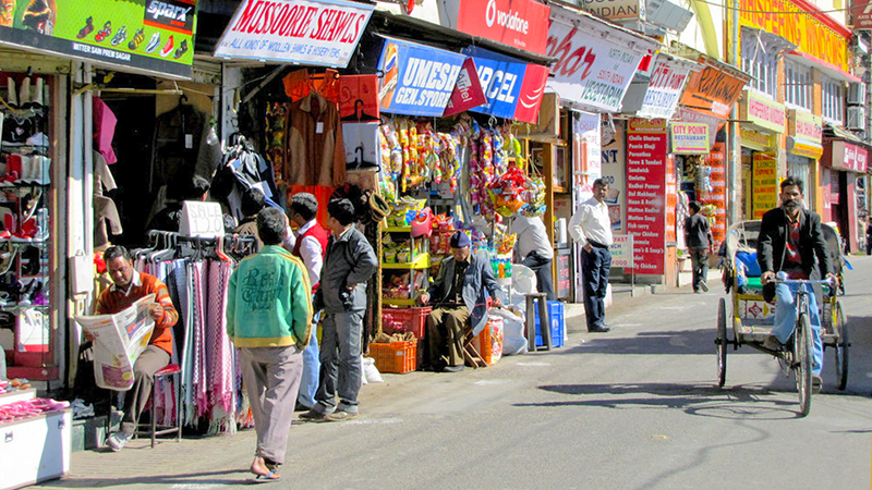 Guide to Mussoorie India The Mall Shopping