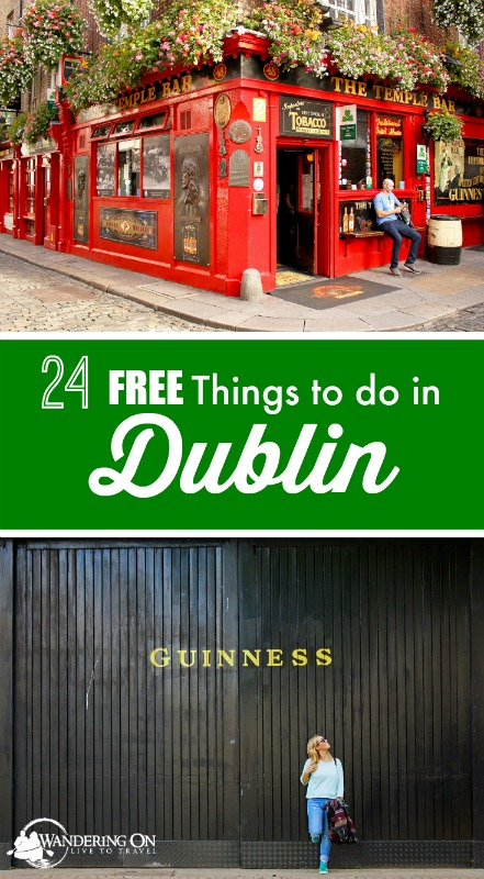 "Travel plans in the capital city of Ireland? Check out our post ""24 Free Things to Do in Dublin"" for all the must-see attractions and what to do in Dublin on a budget. 