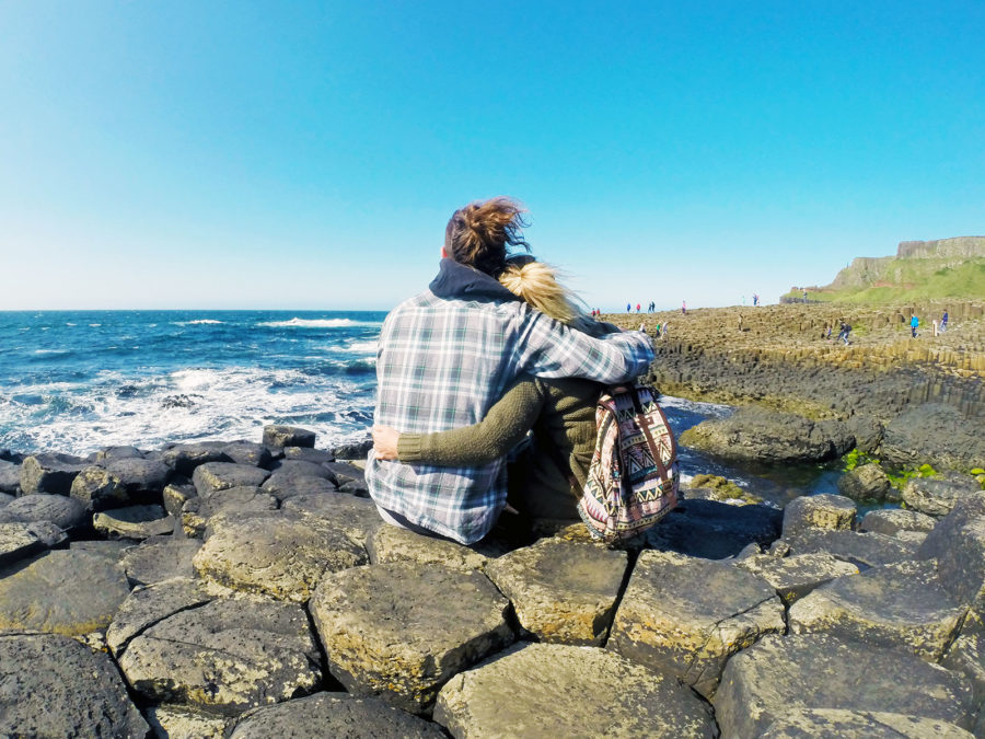 Taking in the views from the Giant's Causeway Northern Ireland