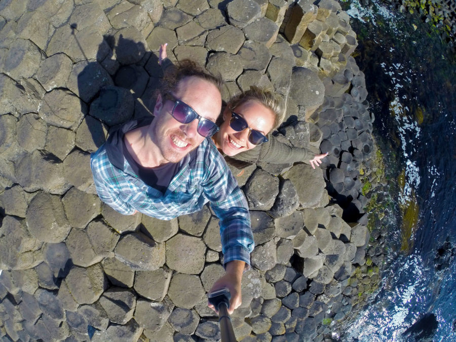 Standing in the footsteps of giants at the famous Giant's Causeway Northern Ireland