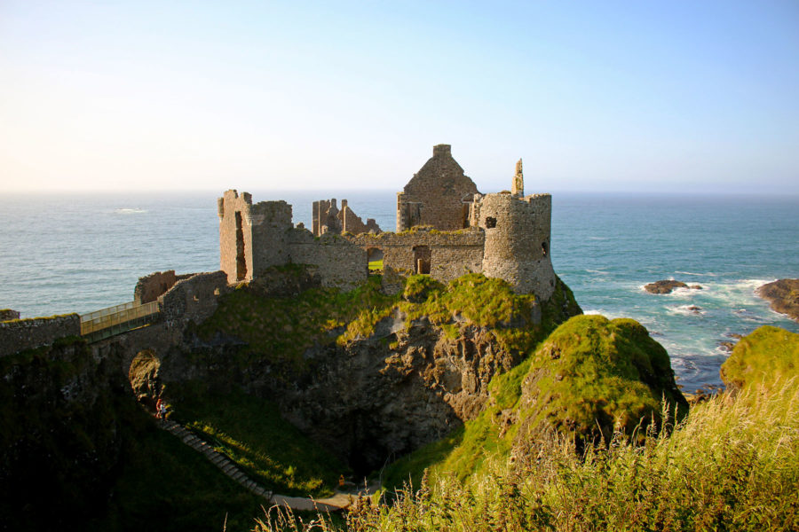 Dunluce castle on the Antrim coast on the Giant's Causeway Coastal Route