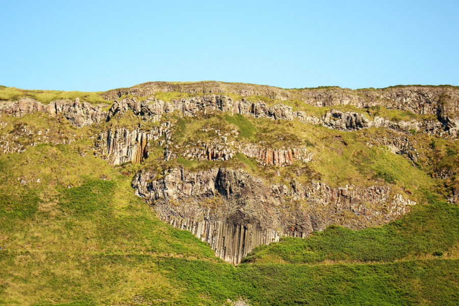 "giants causeway legends, folklore and stories | The walking trail in front of ""The Giant's Organ"""