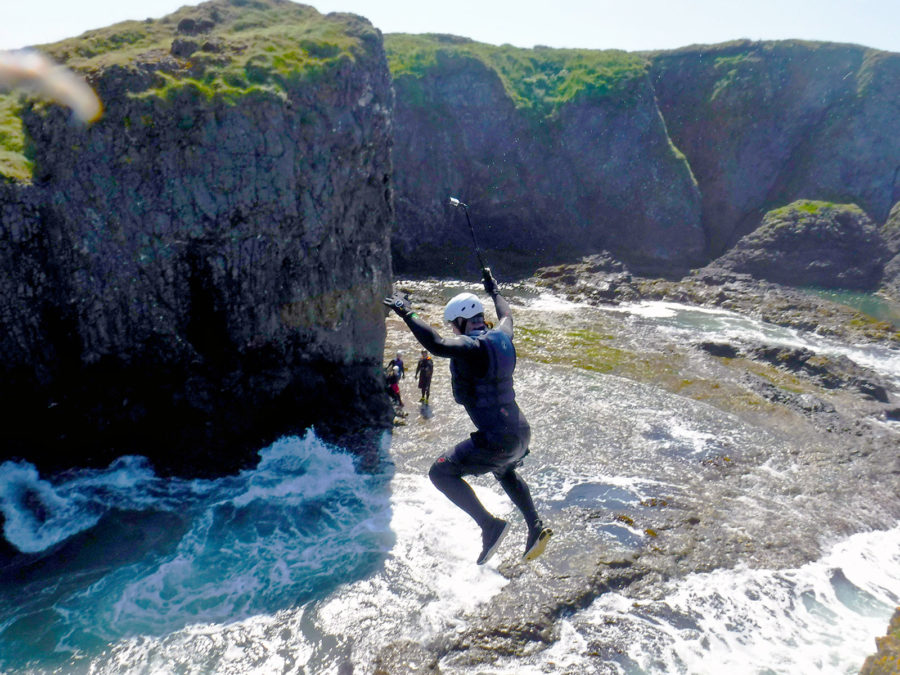 Ballintoy Harbour coasteering Northern Ireland