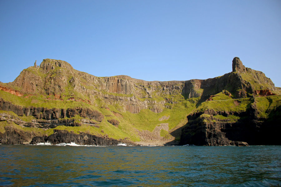 Seeing the Amphitheatre from the water  | Visit Giant's Causeway | Northern Ireland