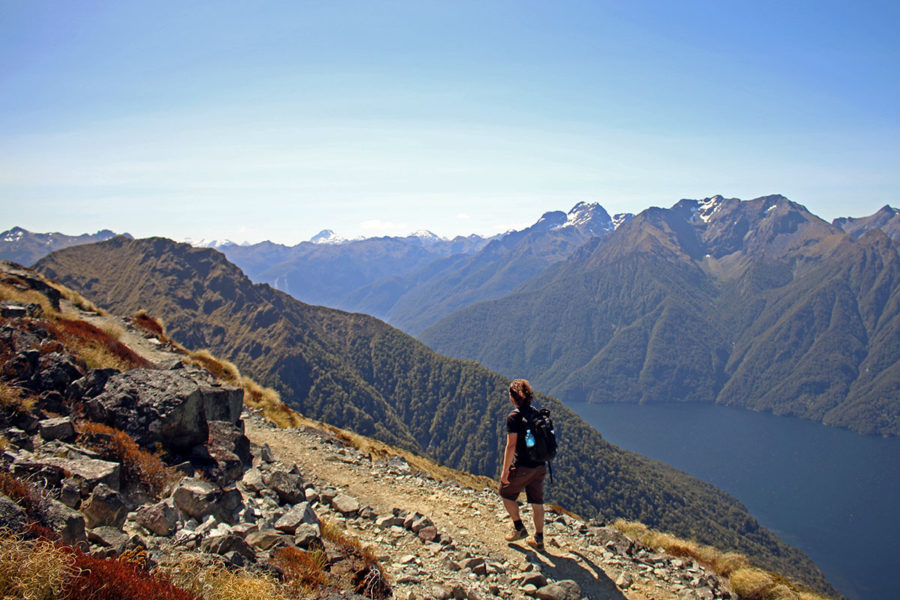 travel insurance nz - Brian surrounded by amazing views while hiking in New Zealand