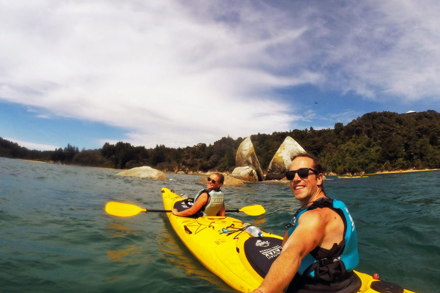 International travel insurance - Sea Kayaking in Abel Tasman National Park, New Zealand