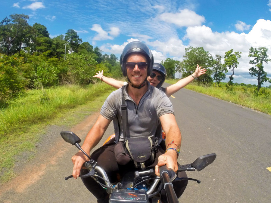 "backpacker insurance Delighted with life driving through Cambodia on our trusty steed ""Wilma the Wanderer"""