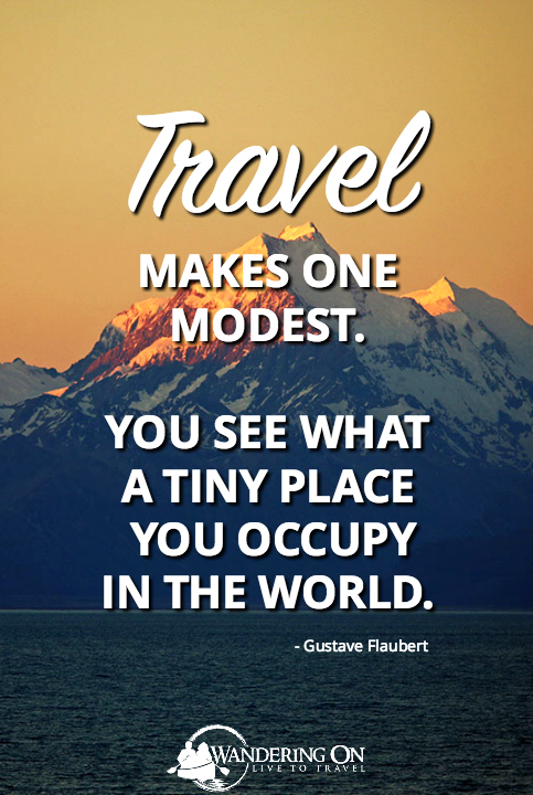 Best Travel Quotes Inspirational | travel quotes images | famous travel quotes | Travel Makes One Modest