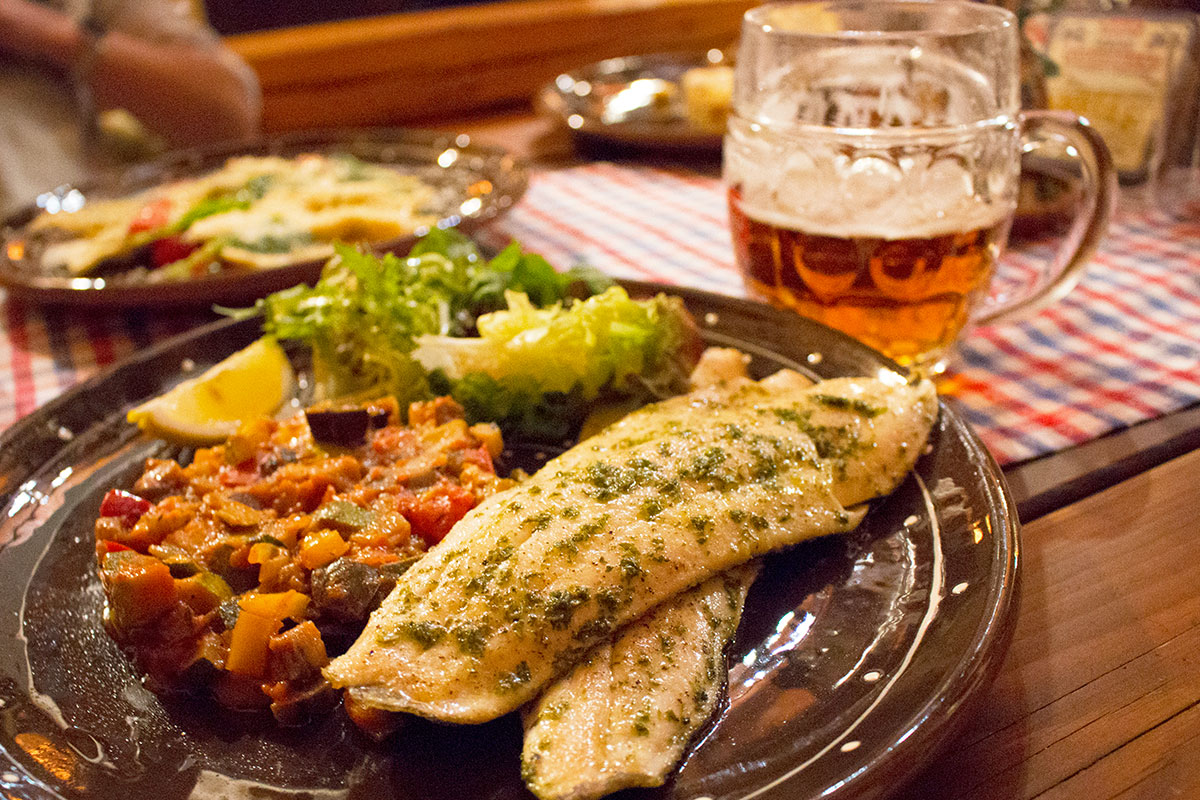 local trout from the Demänovská Dolina | Jasna Slovakia | Restaurants in Jasna | Slovenska Koliba Jasna