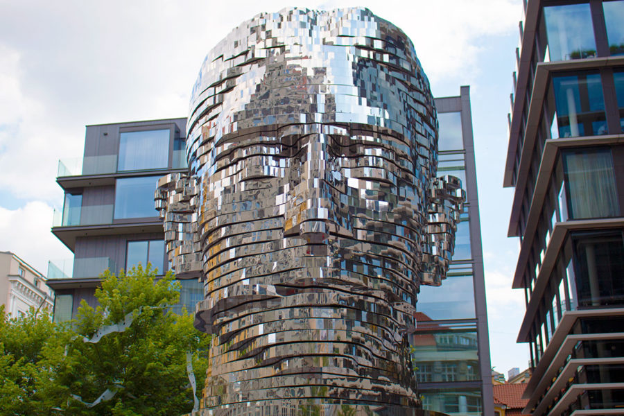 Head Of Franz Kafka statue, Prague attractions, best free things to do in Prague, what to see in Prague, Prague on a budget