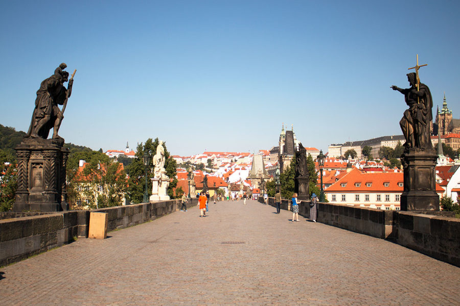 Charles Bridge with hardly anyone else around, one of the Best Free Things To Do In Prague, what to see in Prague, Prague on a budget