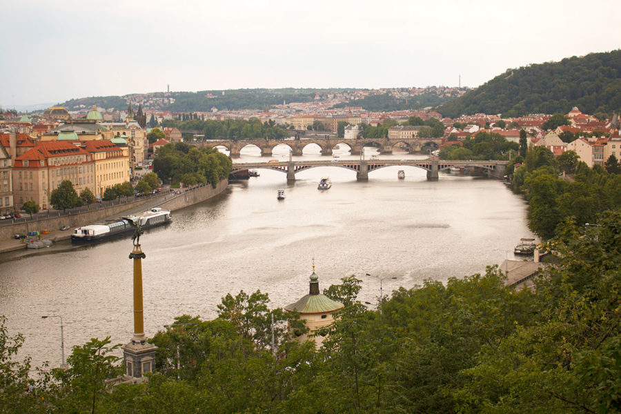 Vltava River with Shooter's Island in the distance, Best free things to do in Prague, what to do in Prague, what to see in Prague, cheap things to do in Prague, best viewpoints in Prague, Prague on a budget
