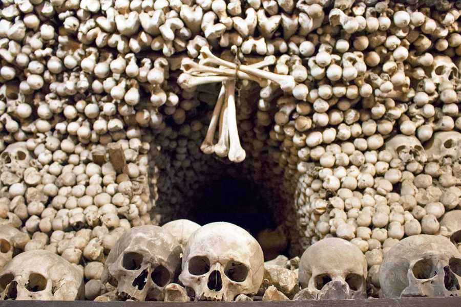 Skulls and bones galore await at Sedlec Ossuary, Kutna Hora's infamous bone church | A day trip from Prague to Kutna Hora bone church