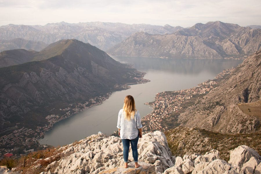 Epic views of the Bay of Kotor from the the Krstac Pass Best views in Kotor