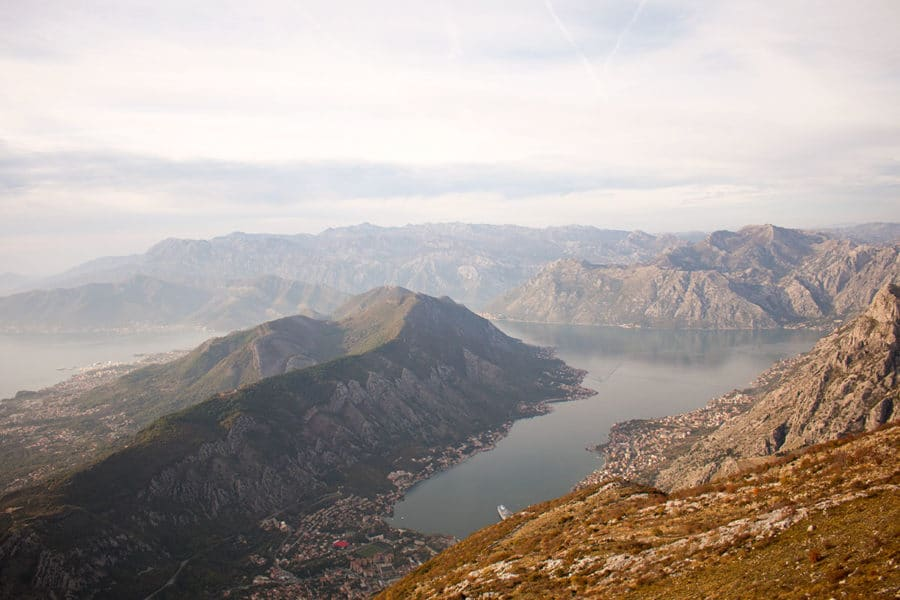 Stunning views over the UNESCO Bay Of Kotor | things to do in Kotor in one day