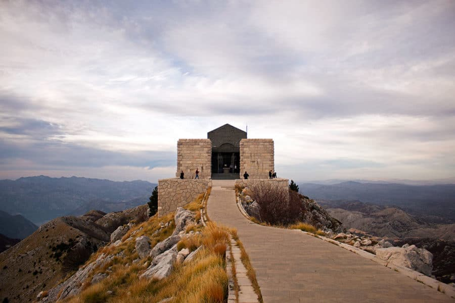 The mausoleum of Petar Petrovic Njegos, Montenegro's national hero sits atop a mountain in Lovćen National Park | what to do in Kotor