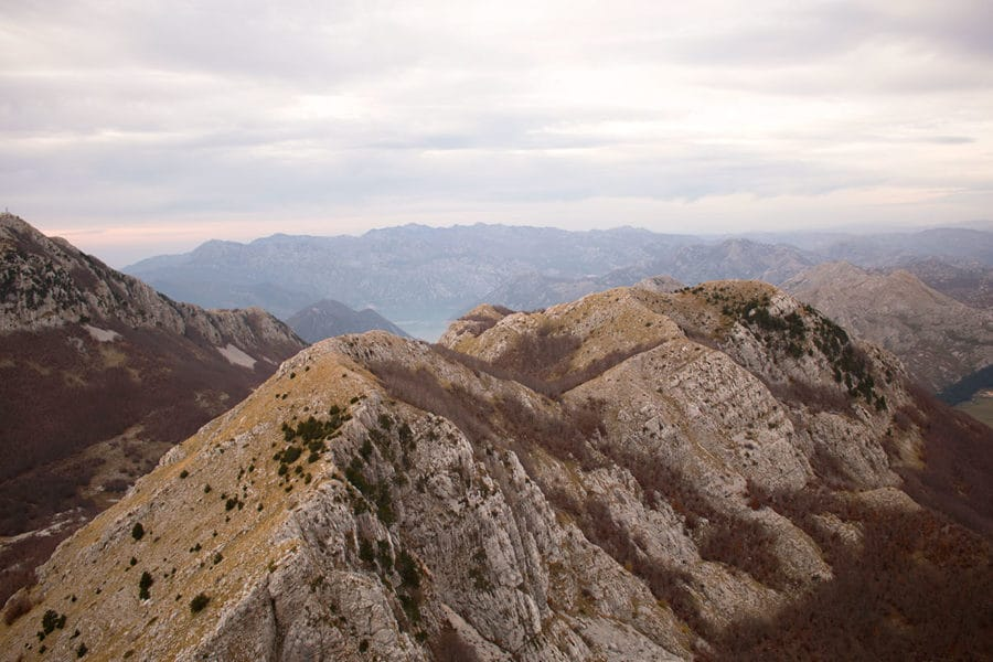 The mountains of Lovćen National Park near Kotor | What to do in Kotor