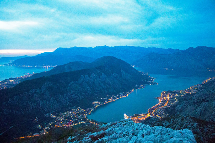 The Bay takes on a different vibe one the sun goes down | see the bay of Kotor after dark | Kotor must see