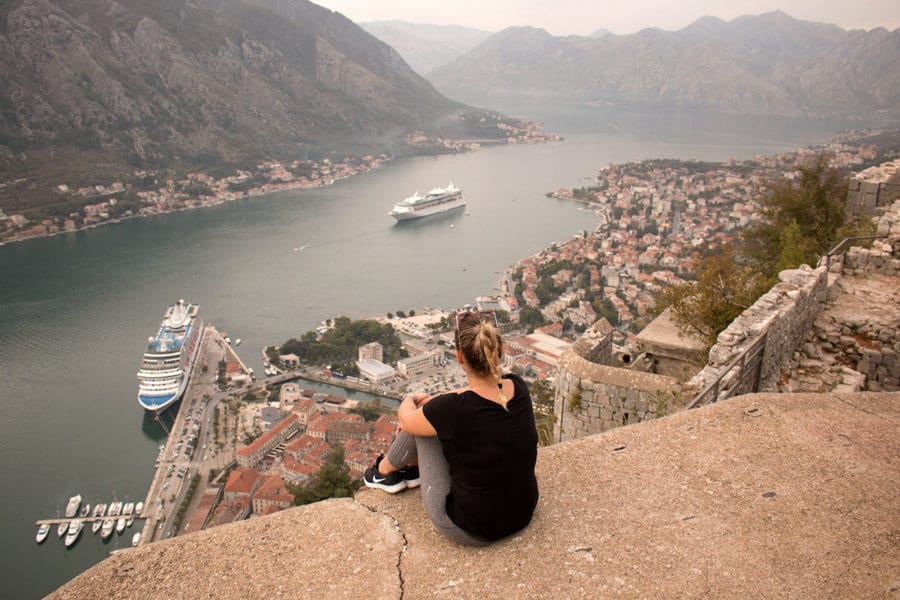 Chill out with epic views after the walk up to Saint John's Fortress | things to do in Kotor