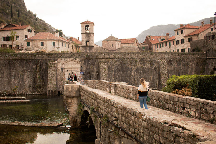 The moat on the north side entrance near the 'Vrata od Škurde' of Kotor | Kotor attractions